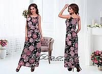 Модное платье Шифон,размеры 42-48. в расцветках
