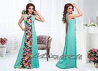 Длинное штапельное платье Рюмка размеры 42-48. в расцветках