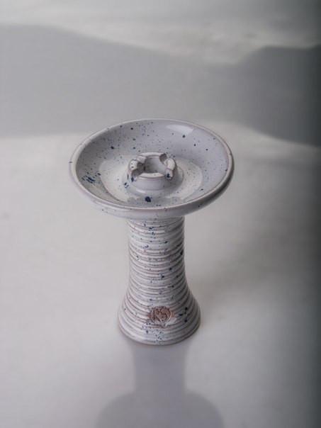 Чаша для кальяна RS Bowls PL (Plate), белая в точку