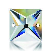 Стразы пришивные Asfour Квадрат 14мм. Crystal