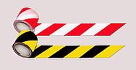 Сигнальная лента 72мм х 100м, Желто-черная
