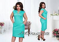 Платье Шнуровка в разных цветах больших размеров