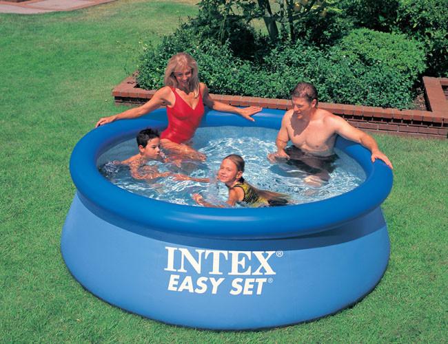 Семейные надувные и каркасные бассейны, круглый басейн