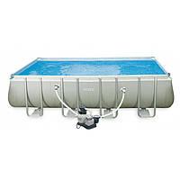 Каркасный бассейн Intex Rectangular Ultra Frame Pool 28350 (400х200х100 см)
