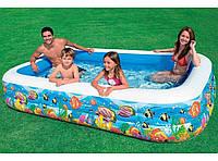 Детский надувной бассейн, прямоугольный, Подводный мир, Intex 58485 KK