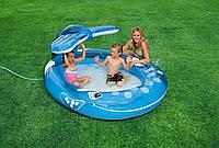 Детский надувной бассейн с фонтаном Веселый кит Intex 57435 HN