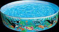 Бассейн 58461 касатки детский каркасный (183х38 см)