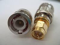 Переходник BNC (папа) - SMA plug переходник для радиостанций с разъемом коннетором BNC под установку антен с