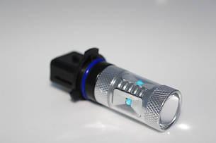 Светодиодная автолампа P13 / PSX26W, 30W (750Lm), WHITE 6000K (6 LED 5W CREE) + Линза