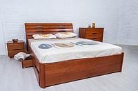 """Кровать деревянная Марита """"Люкс"""" с ящиками  Олимп/  Ліжко дерев'яне """"Маріта Люкс"""" з ящиками Олімп"""