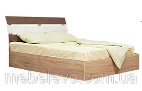Кровать Элегант 160 2сп 1015х1686х2235мм дуб сонома + мокка   Світ Меблів