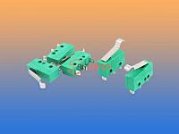 Микропереключатель KW 16(5)A 250V 3-х контактный зеленый