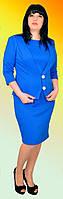 Женское платье с пиджаком большого размера №1157 (электрик)