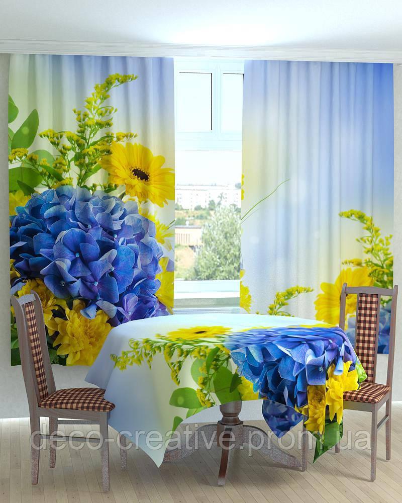 Скатерть,шторы с фото парад хризантем