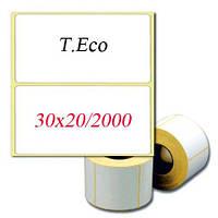 Термоэтикетка 30x20 мм. T.Eco. СКИДКИ ПРИ ЗАКАЗЕ ОТ 5 РУЛ. Купить у производителя оптом и в розницу.