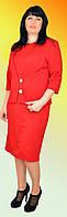 Женское платье с пиджаком большого размера №1157 (красный)