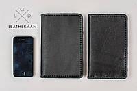 Кожаный кошелек, качественный кошелек ручной работы, фото 1