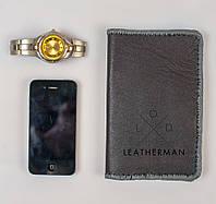 Кожаный кошелек, черный классический кошелек, фото 1