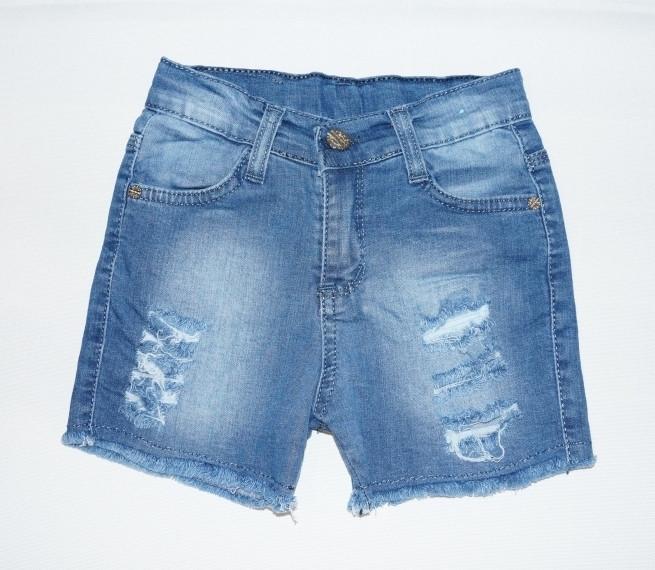 Джинсовые шорты рваные для девочки 812 (р.5,6 лет)