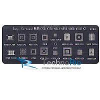 Трафарет A193 для Sony Ericsson K700, K750, K790, K810, K850, W880,W810