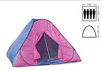 Палатка самораскладывающаяся (2,0 х 2,0 х 1,3м) Shengyuan SY-026, туристическая палатка автомат четырехместная