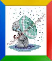 Схема для вышивания бисером Мишка под зонтом