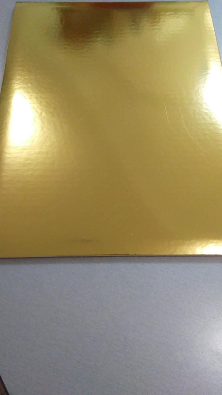 Подложка усиленная под торт золото40Х50cm (код 02131)