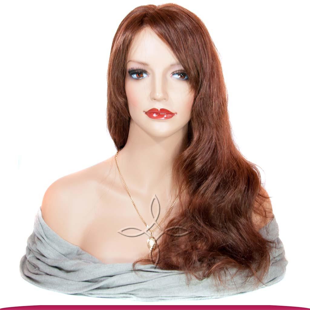 Парик из Натуральных Волос 50-55 см 155 грамм, Рыжий №33