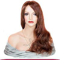 Парик из натуральных волос 50-55 см 150 грамм, №33 Рыжий