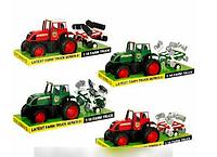 Детская игрушка Трактор 2033 AD инерционный, с прицепом