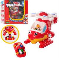 Игровой набор wow toys 10314 Спасательный вертолет Рори пожарный,вращается пропеллер,магнит,трещотка,фигурки 2