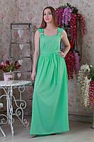 Приталенное длинное нарядное женское платье