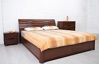 """Кровать деревянная Марита N с подъемной рамой Олимп  /  Ліжко дерев'яне """"Маріта N"""" з підйомною рамою Олімп"""