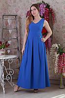 Синие молодежное платье в пол