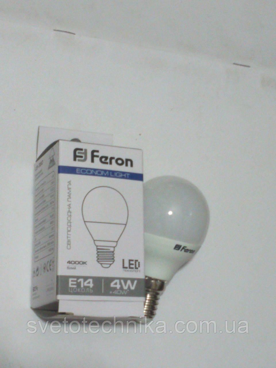 Світлодіодна лампа Feron LB380 E14 4W 4000К