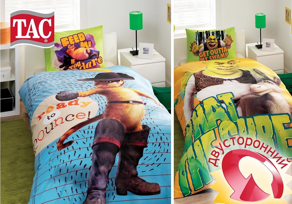 Подростковый постельный комплект Shrek Puss in Boots, TAC