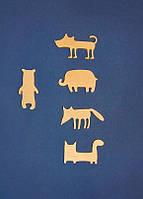Заготовки для декупажа и росписи звери разные