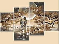 Схема для вышивания бисером Лунный свет, полиптих из 4 частей РКП-1003