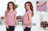 Рубашка женская с цепочкой принт сердечки