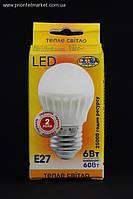 EXTRA LED Лампа G45 6W E27 2700K