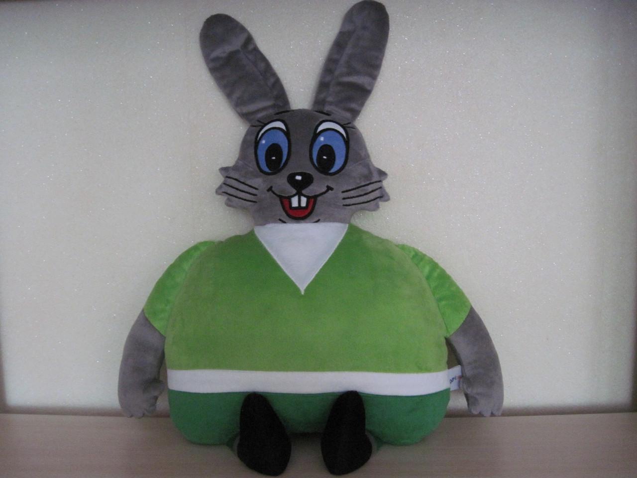 Мягкая игрушка-подушка заяц Ну, погоди ручная работа ...