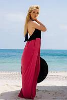 Платье -сарафан двухцветное с открытой спиной.