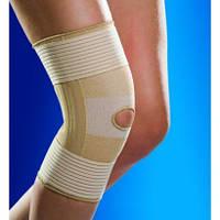 Бандаж регулируемый на колено с пластиковыми ребрами жесткости эластичный