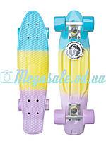 Скейтборд/скейт Penny Board Fades Градиент/Мультиколор (Пенни борд): Candy, нагрузка до 80кг