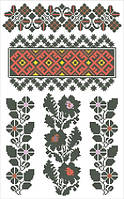 Cхема для вышивки бисером и нитками на водорастворимом флизелине, ФВЛ-66