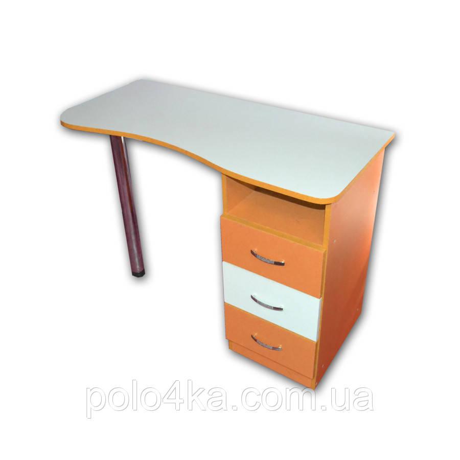 Стол ДСП белый/оранж маникюрный/компьютерный