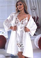 Атласный халат и ночная сорочка Jasmin 1796