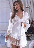 Атласный халат и ночная сорочка Jasmin 1797