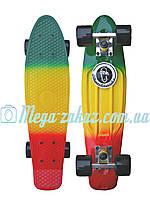 Пенни борд фиш Penny Board Fades Градиент/Мультиколор (Пенни борд): 4 цвета, нагрузка до 80кг