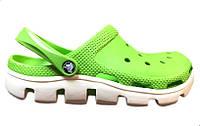 Тапочки мужские Crocs (в стиле кроксы, шлепки) резиновые зеленые
